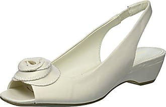 2d569b2c19f Anne Klein Womens HARIETTA Dress Sandal Pump Off White Synthetic 9 M US