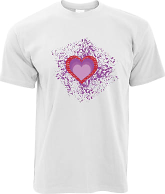 Tim And Ted Valentines Day T Shirt I Love You Art Paint Splatter - (White/XXXXX-Large)