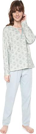 Pzama Pijama Pzama Recorte Off-white/Verde