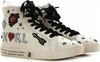Karl Lagerfeld Sneaker für Damen, Tennisschuh, Turnschuh Günstig im Outlet Sale, Weiss, Leder, 2019, 37 38 40 41