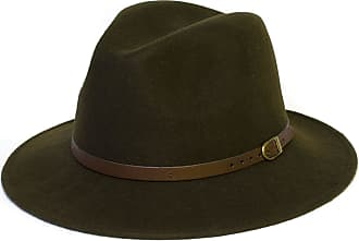 Hat To Socks Wool Fedora Felt Trilby Hat (60 cm, Green)