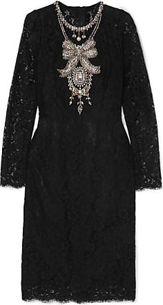 8603384f220 Dolce & Gabbana Crystal-embellished Corded Lace And Tulle Dress - Black