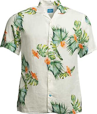 Panareha Camicia Aloha di lino HONOLULU bianco