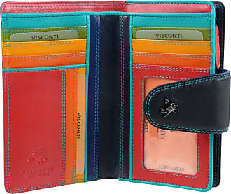Visconti NEW Quality LADIES Soft LEATHER PURSE WALLET by Visconti Designer SPECTRUM Boxed