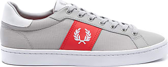 Fred Perry TÊNIS MASCULINO LAWN LEATHER - CINZA