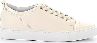 Lanvin Sneaker goatskin lambskin patent leather smooth leather white