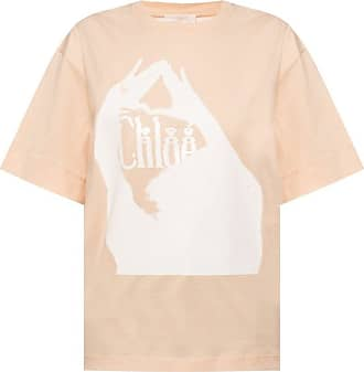 Beige Logo T-shirt  Chloé  T-Skjorter - Dameklær er billig