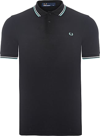 Fred Perry POLO MASCULINA TWIN TIPPED - PRETO