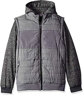 Urban Republic Mens Light Wool/Satin Jackets, Storm Grey, XL