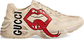 Gucci Tênis Rhyton com estampa de boca - Branco