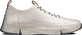 Clarks Mens White Leather Clarks Tri Spark Size 10.5