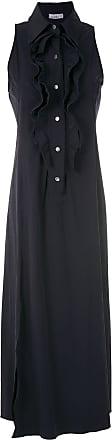Amir Slama ruffle-trim maxi dress - Blue