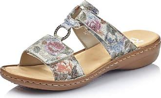 Rieker Women Clogs, Mules 60885, Ladies Mules,Slipper,Slides,Sandal,Summer Shoe,Casual Shoe,Weiss-Multi,36 EU / 3,5 UK