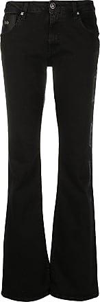 John Richmond Calça jeans bootcut com efeito destroyed - Preto