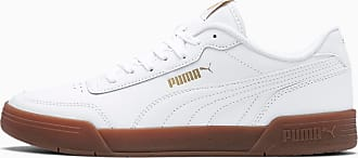 Puma Womens PUMA Caracal Trainers, White/Gold, size 10.5, Shoes