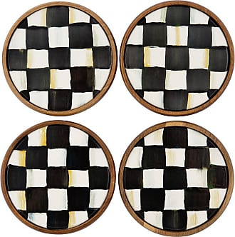 MacKenzie-Childs Courtly Check Coasters - Set of Four