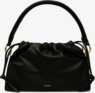 Yuzefi Womens Black Bom Leather Tote Bag