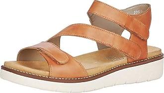 Remonte Women Sandals, Ladies Strappy Sandals,Roman Sandals,Gladiator Sandals,Summer Shoes,Comfortable,noccia / 24,40 EU / 6.5 UK