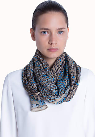 Akris Scarf in Modal Cashmere with Solar Plant Placement Print