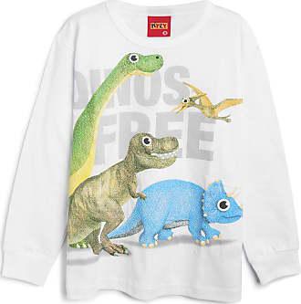 KYLY Camiseta Kyly Infantil Dinossauro Branca