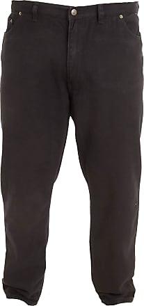 Duke London Rockford Jeans Super Kingsize Comfort Fit Jeans, Black Waist: 64 Length: 30