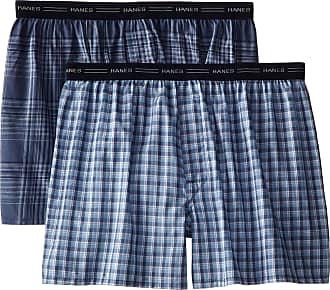Hanes Mens 2-Pack Exposed Waistband Dyed Boxer Briefs