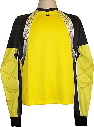 Kanxa Camisa de Goleiro Profissional modelo Paraí Tam GG Nº 1 - Amarelo/Preto - Kanxa