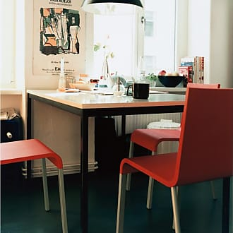 Vitra 03 Chair Red & Silver