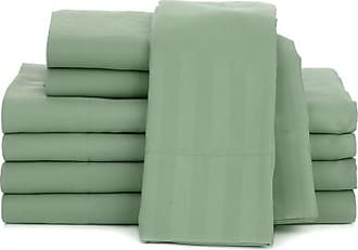 Concierge Collection Solid and Stripe 2-pack Microfiber Sheet Set