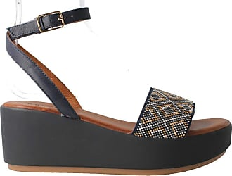 Inuovo 7110 Womens Blue Leather Beaded Sandal Blue Size: 7 UK