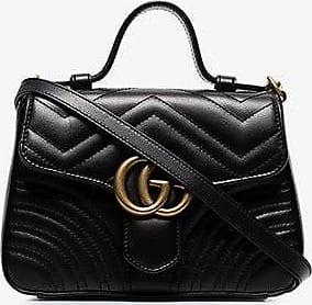 Gucci Womens Black Gg Marmont Mini Top Handle Bag