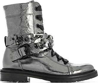Kennel & Schmenger Ankle boot com cadarço - Metálico