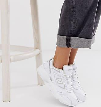Mujer Zapatillas de deporte blancas y plateadas 840 de New