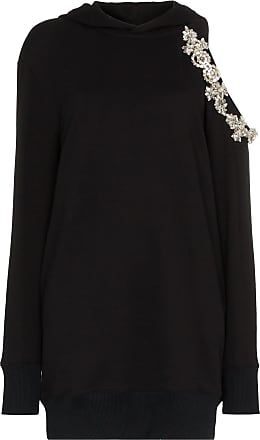 Christopher Kane DNA cut-out hoodie dress - Black