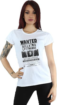 Harry Potter Womens Bellatrix Lestrange Wanted T-Shirt Medium White