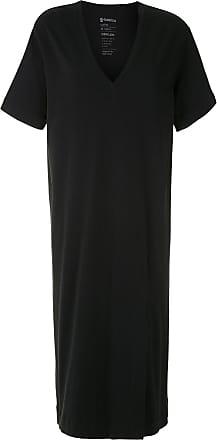 Osklen V-neck T-shirt dress - Black