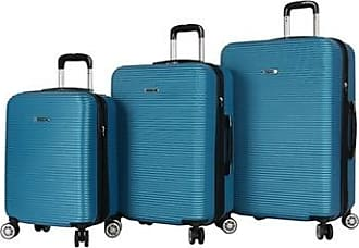 Rosetti Loren Hardside Dual-Wheel Spinner Luggage Set 3 Piece - Peacock