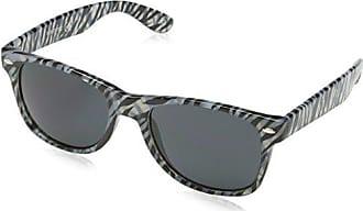 23ec210a67fbf6 Sunoptic Lunettes Wayfarer Femme - Blanc - Blanc noir - FR   Taille unique (