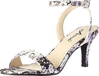 b0af1e16f1a Annie Shoes Womens Lutrec W Dress Sandal Black Floral 8 W US