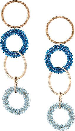 Jacquemus interlaced hoops drop earrings - Dourado