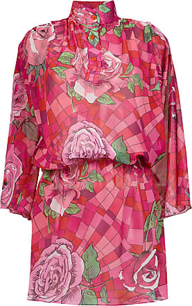 Amir Slama funel neck floral dress - PRETO