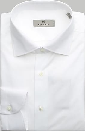 Canali Weißes Hemd - EU 44 / 17.5 UK - White