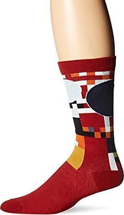 Ozone Mens FLW Coonley Playhouse Sock-Red, OSFM