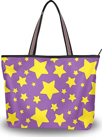 Lorona Women Halloween Star Pattern Bright Canvas Shoulder Hand Bag Large Capacity Tote Bag