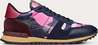Valentino Garavani Valentino Garavani Uomo Camouflage Rockrunner Sneaker Man Navy Camo/pink 100% Pelle Di Vitello - Bos Taurus 40