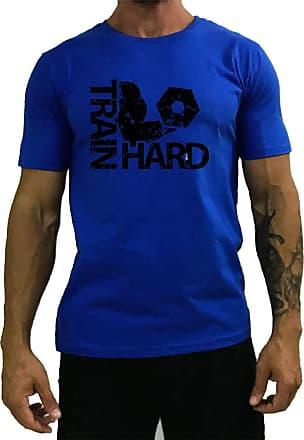 MXD Conceito Camiseta Tradicional Masculina MXD Conceito Train Hard Treino Pesado (Azul, EG)