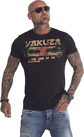 Yakuza Men T-Shirt Face of Evil, Color:Black, Size:2XL