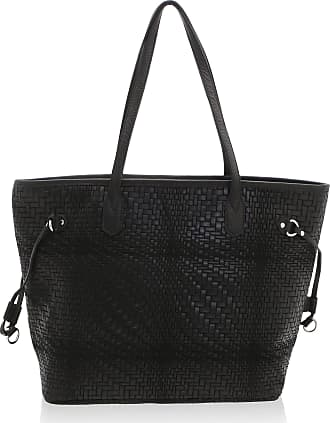 Chicca Borse Woman Shoulder Bag in Genuine Leather Made in Italy - 46 x 30 x 17 Cm