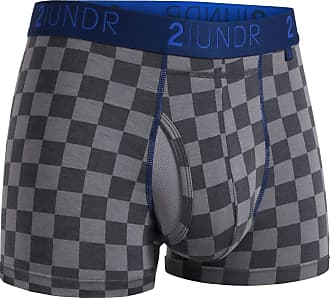 2UNDR Mens Swing Shift Trunk Boxers (Check Mate, Medium)
