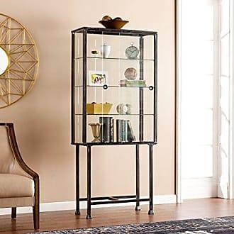 Southern Enterprises AMZ4688ZH Metal/Glass Sliding-Door Display Cabinet